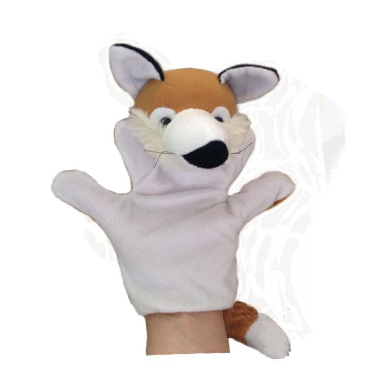 plush fox animal toy hand puppet doll , stuffed puppet, soft puppets, t  -  JNJ Plush Toy Co. store