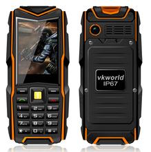 Free Gift Russian Keyboard VKworld V3 IP67 Waterproof Rugged Phone 2.4'' Display Dual Sim 5200mAh Battery Long Standby Phone(China (Mainland))