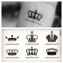 1 шт. Маленький Корона Ангельские Крылья Cat Pattern Временные Татуировки Наклейки Водонепроницаемый Женщины Дети Передаче Красочные Женские Татуировки(China (Mainland))