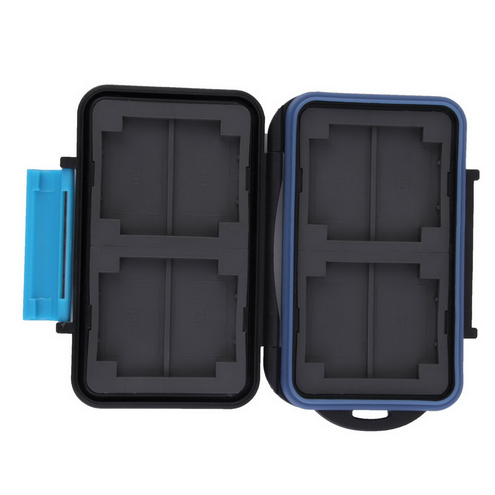 Memory Card Case Holder for 8 x SD SDHC Cards MC-SD8 Waterproof Anti-shock Drop Shipping Wholesale