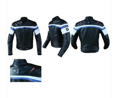 Free shipping 2013 NEW Hot Cool motorcycle pu leather riding/racing jacket 5 protections (China (Mainland))