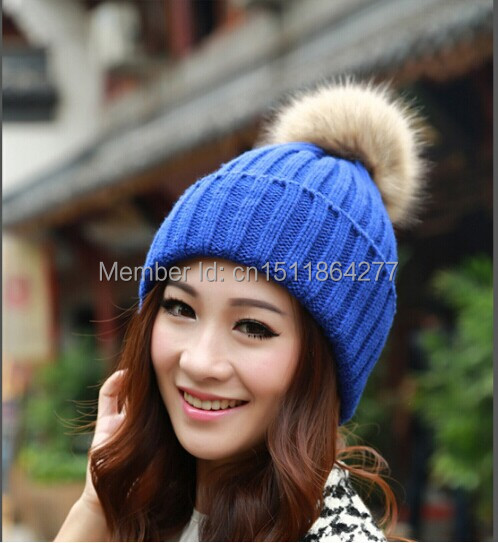 Vogue Casual New Women's Candy Beanie Knitted Cap Crochet Pompons hat Curling Ear Protect Cute Casual Cap Women Beanies(China (Mainland))