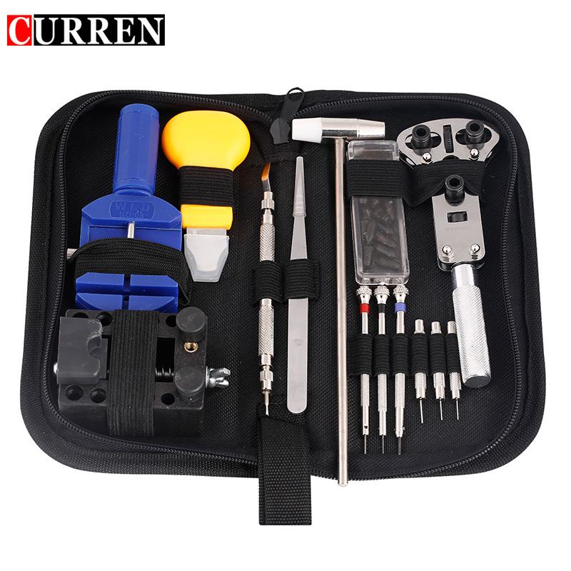 CURREN 14 /16 pieces watch repair tool Kit Pin Set Watch Case Opener Link Remover Screwdriver Tweezer Watchmaker Dedicated(China (Mainland))