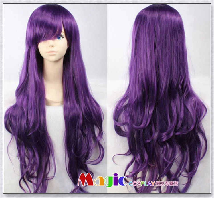 80CM Long Dark Purple LOL League of Legends Curly Hair Annie Cosplay Wigs Full Lace Synthetic Wigs<br><br>Aliexpress