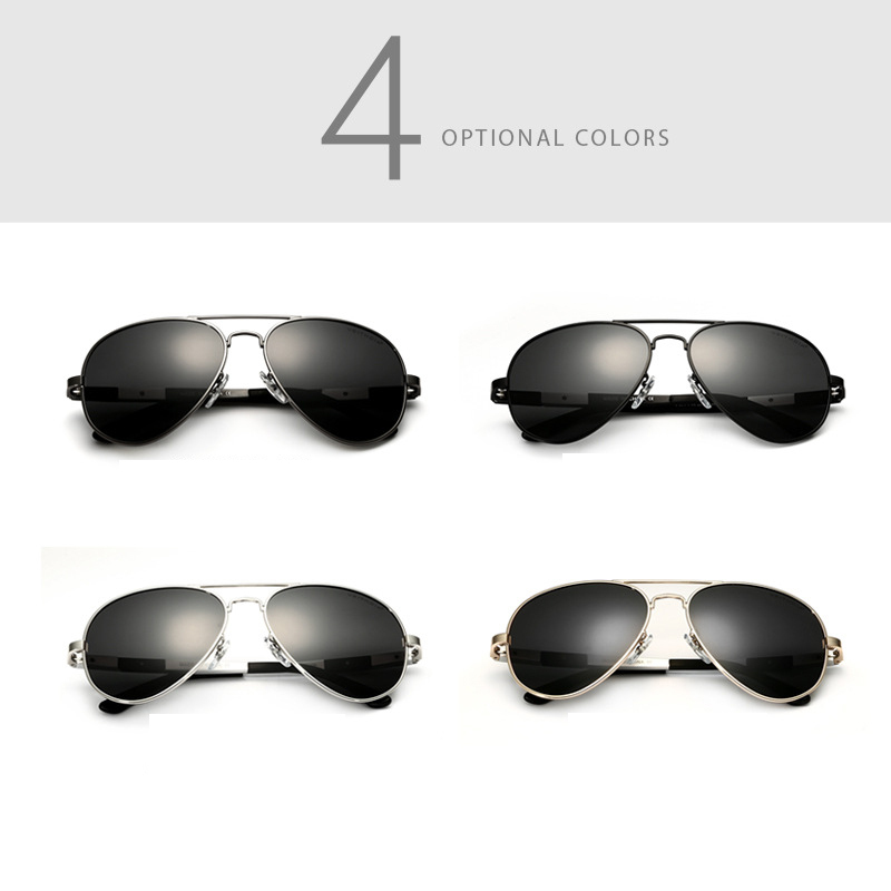 Aluminum Magnesium Aviator Sunglasses Polarized Lens Men Sun Glasses Male Driving Fishing Outdoor Eyewears Accessories 6695