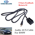 Car Accressory 3 5mm Jack AUX Audio In Input Adapter Cable For BMW 5 6 X3