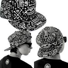 New 2014 Unisex Fashion Vintage Baseball Flat Bill Hat Hippie Eye Hiphop Adjustable Cap Just for you