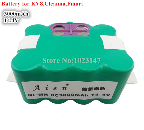 14.4V 3000mAh Robotics Battery for KV8 XR210,Cleanna XR210,Meidea M320,Zebot Z320,Kaily 310,A325 Robot Cleaner(China (Mainland))