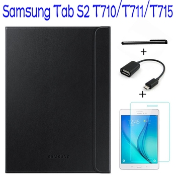 Official Original 1:1 Smart Leather Cover for Samsung Galaxy Tab S2 8.0 T710 T711 T715 Tablet Case+ Screen Protector+OTG +Pen