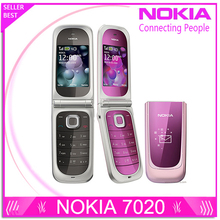 7020 Original Unlocked Nokia 7020 cell phone Bluetooth 2MP camera MP4 Player freeship refurbished