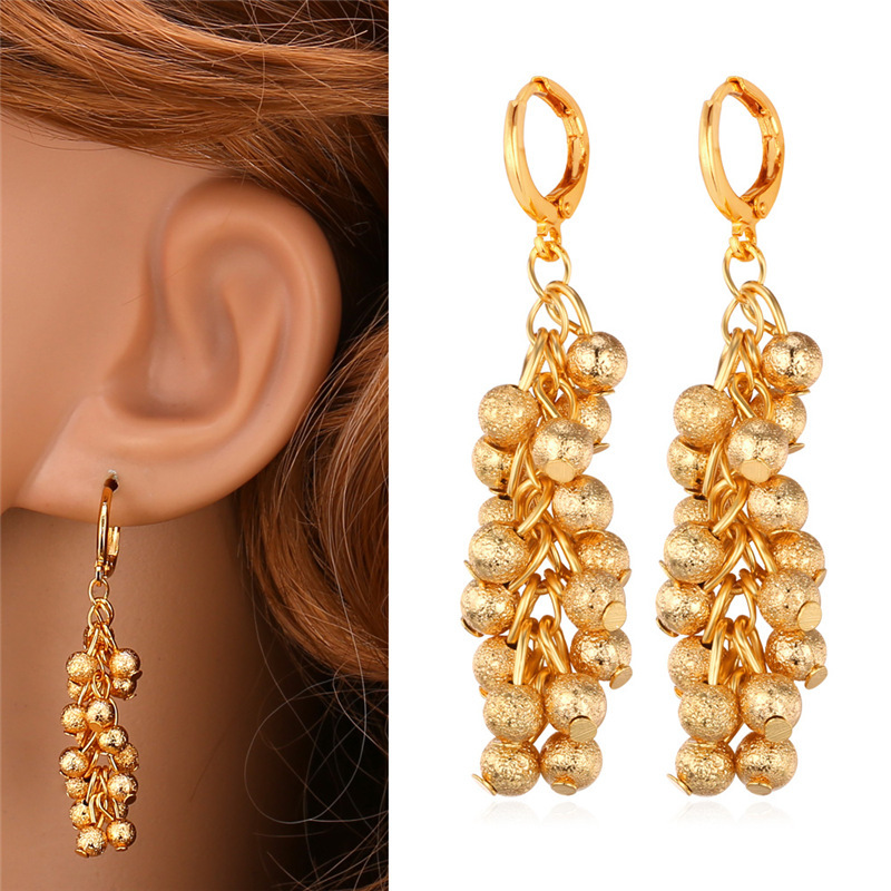 Gold Grape Earrings For Women Jewelry Botryoidalis 18K Gold Plated Trendy Fashion New 2015 Dropping Earrings Wholesale E218(China (Mainland))