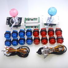 Reyann Arcade USB Control Panel DIY Bundle Kit 2 x LED Joystick + 16 x LED Illuminated Light Push Buttons For Windows PC Games(China (Mainland))