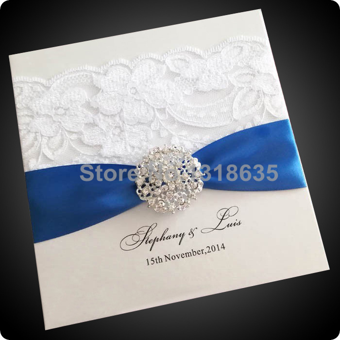 EA363 Lace Wedding Invitations Sample Order-in Event