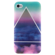Soft TPU For Iphone 4 4S Cases Fashion Triangle And Cloud Styles Case Cover For Iphone 4 4S Mobile Phone Shell