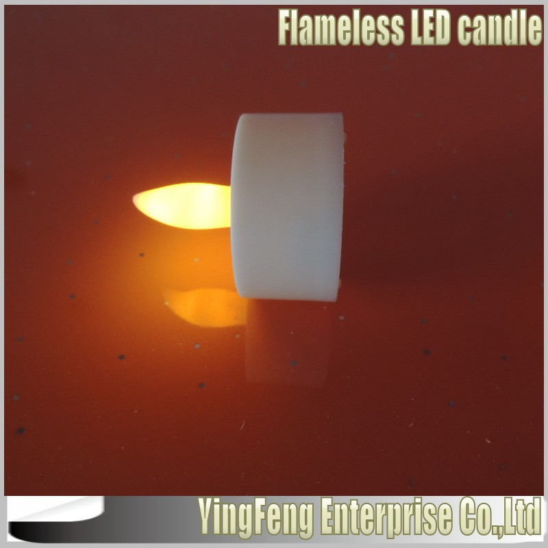 Free Shipping by fast post High quality White Single LED Flameless Tea Lights,Christmas electric flashing led candle+100pcs/lot(China (Mainland))