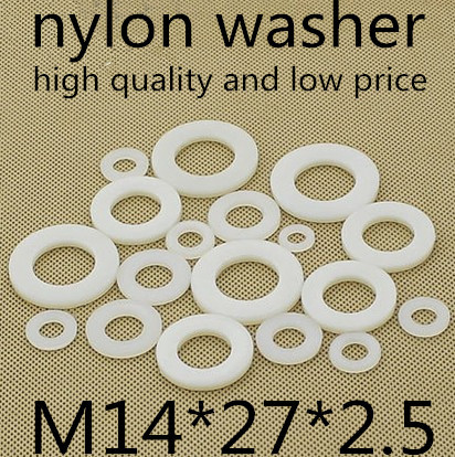 100pcs/lot  M14*27*2.5  M14 plastic nylon flat washer gasket<br><br>Aliexpress