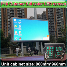 P10 Full Color LED Display, Outdoor water-proof Advertising display screen, Cabinet size 96cm*96cm, DIY full color video wall(China (Mainland))
