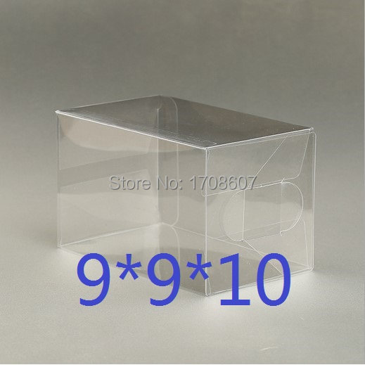 9*9*10cm PVC cupcake packaging box Clear plastic gift box(China (Mainland))