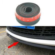 Universal TPVC Front Bumper Lip Skirt Protector Size 2.5m Length 6.5cm Front Bumper Strip Car Scratch Proof  YA012(China (Mainland))