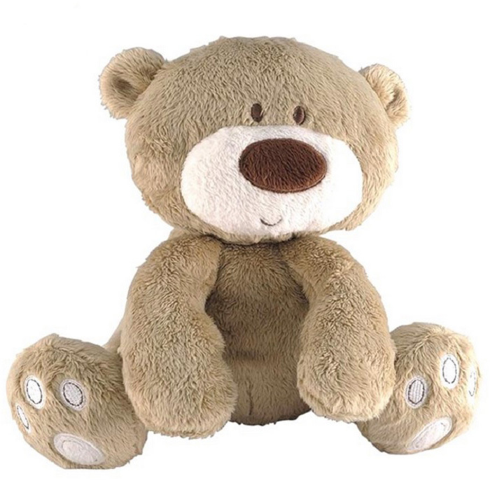 New Baby Toy Cute Teddy Bear Plush Doll Baby Rattle with Ring Bell Early Educational Toy(China (Mainland))