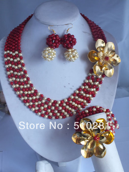 New design No.006 Fashion Coral jewelry set for african wedding