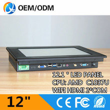 QYT 12.1 inch embedded pc all in one pc industrial panel pc with AMD CPU (QY-12C-CCAB )(China (Mainland))