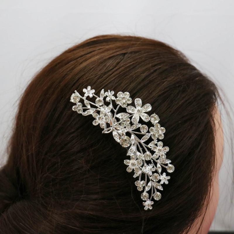 Trendy Hairwear Women Accessories Elegant Crystal Rhinestone Tiara Wedding Prom Bride's Headband Wedding Hair Comb 100x65mm(China (Mainland))