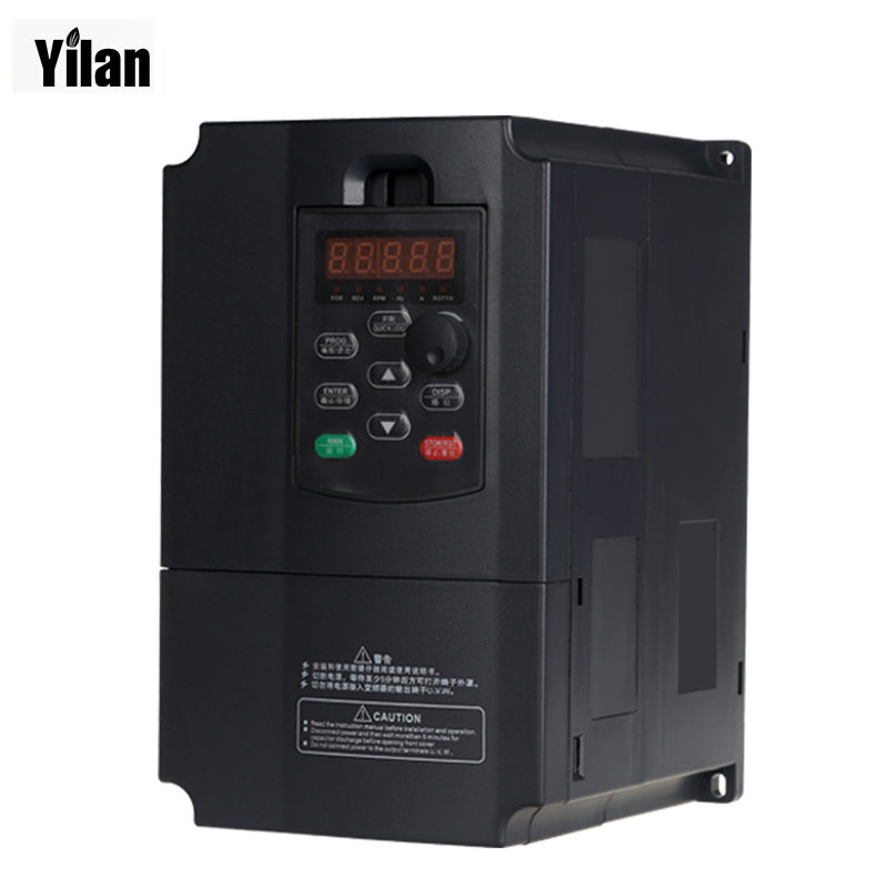Freeshipping VFD inverters 5500watt 7.5HP Power 13A 380V AC Variable Frequency Drives for speed control 5.5KW motor 0-400Hz(China (Mainland))