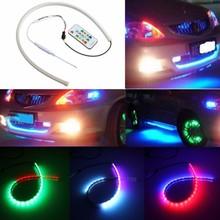 60cm Car Auto RGB RC Styling DRL Daytime Running Light Angel Eye Flexible LED Strip Fog Turn Signal Light Parking lamp(China (Mainland))