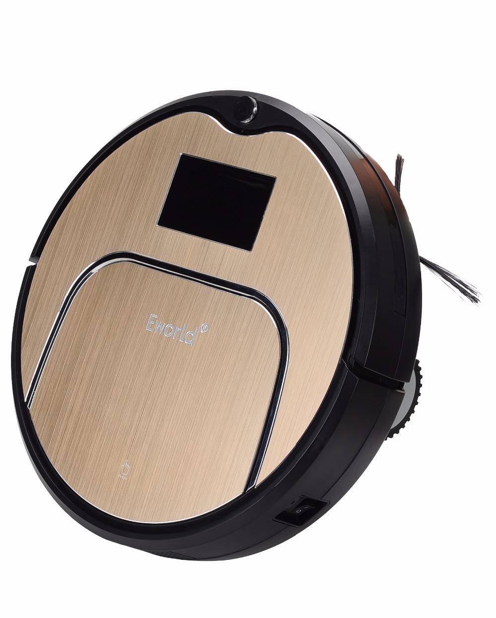 Eworld Mop Robot Vacuum Cleaner for Home, M883 Golden lid HEPA Filter Sensor Remote Control Self Charge ROBOT ASPIRADOR For Home(China (Mainland))