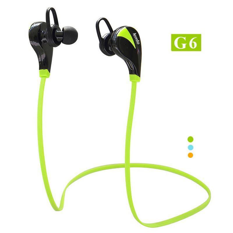 Original G6 Bluetooth 4.0 Headset Wireless Stereo Sports Earphone Studio Music Handsfree Headphone Sweatproof for iPhone Samsung(China (Mainland))