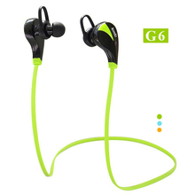 Original G6 Bluetooth 4.0 Headset Wireless Stereo Sports Earphone Studio Music Handsfree Headphone Sweatproof for iPhone Samsung(China (Mainland))
