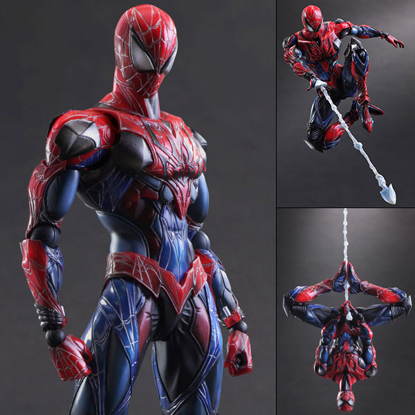 High quality SpiderMan 28CM Movable joints kid Hand model movable PVC child toy Action Figure cartoon arts and crafts can change(China (Mainland))