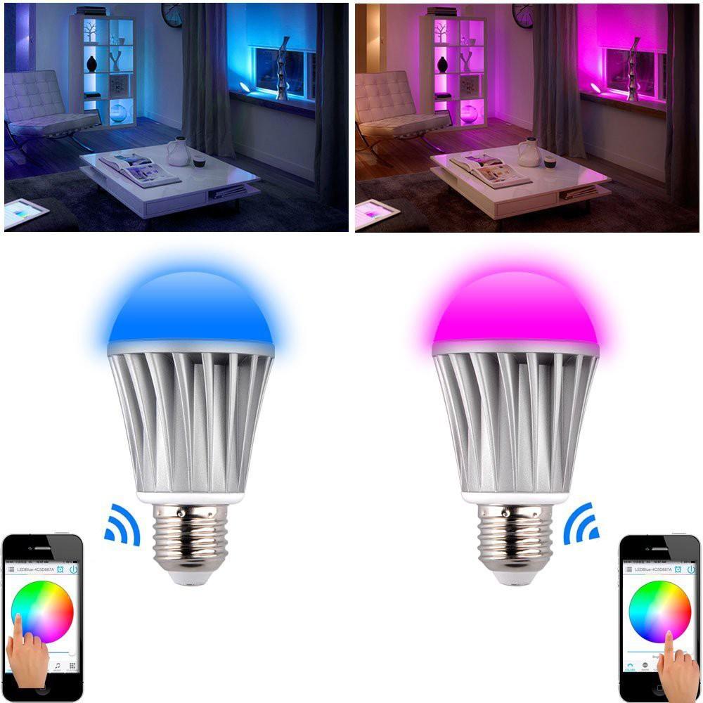 top sale 110V 220V timer group music rgb wifi led light bulb(China (Mainland))
