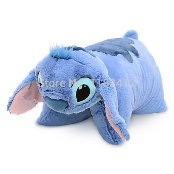Stitch Plush Pillow Multipurpose Folded Cushions 48*45CM Cute Lilo and Stitch Soft Toys for Children Kids Gifts(China (Mainland))