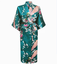 Most Popular Pink Chinese Women Robe Kimono Bath Gown Lady Summer Silk Rayon Nightgown Mujer Pijama Size S M L XL XXL XXXL Zh01L(China (Mainland))