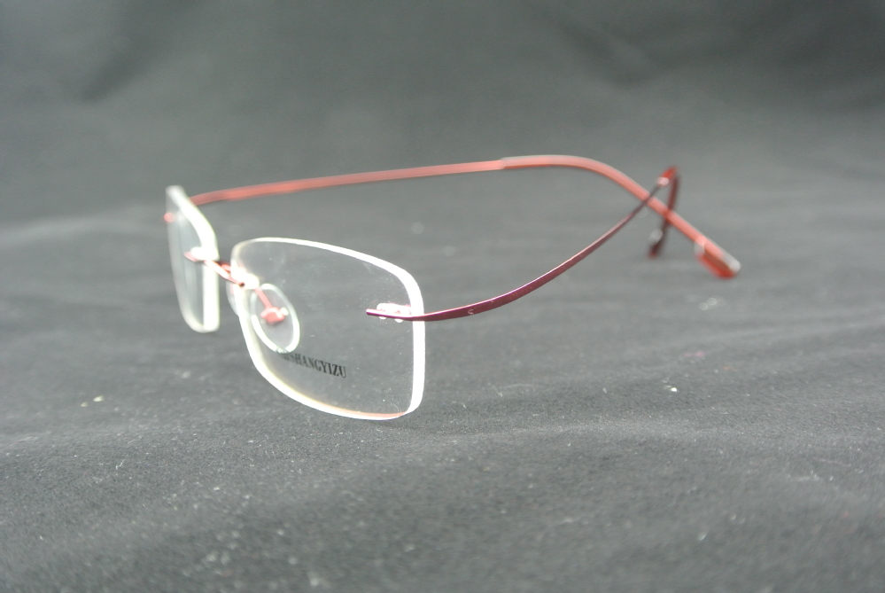 Best Lightweight Eyeglass Frames : EYEGLASS FRAMES RED FLEXIBLE RIMLESS GLASSES MEN & WOMEN ...
