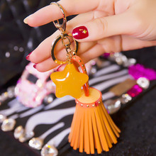 Handmade Genuine Leather Tassel Pendant Handbag/Bag Charm/Key Chains Keyring Bag Accessories(China (Mainland))