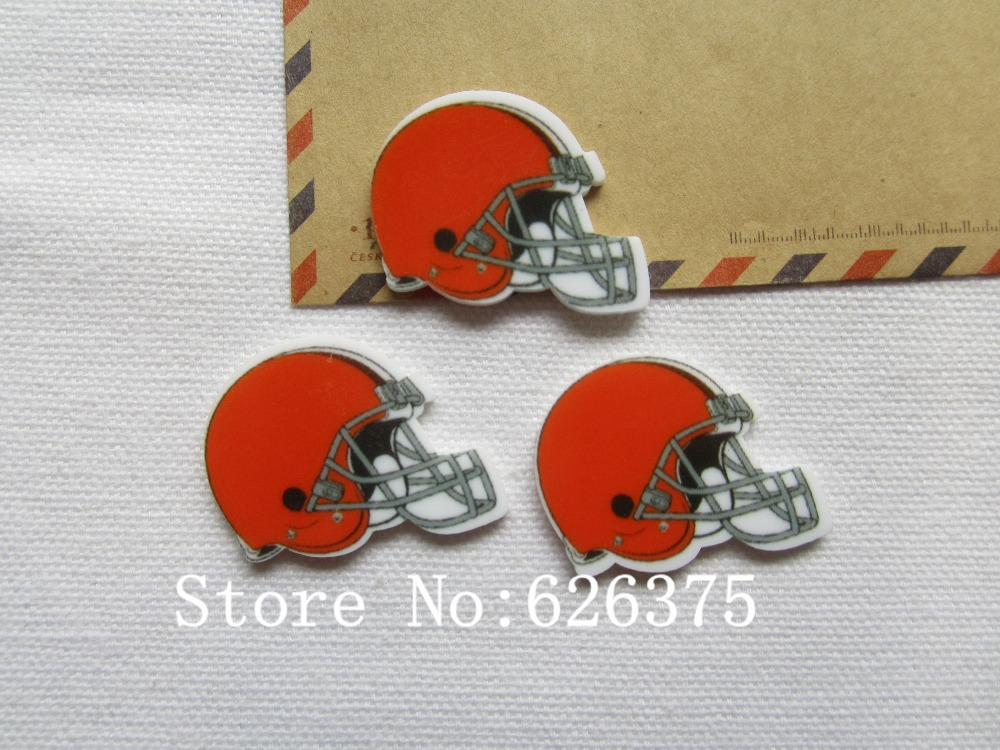 Rena!! Min.order $6 (mix order), Red Football Helmet Planar Resin for Hair Bow Center, Phone Deco DIY (36*27mm), Free Shipping(China (Mainland))
