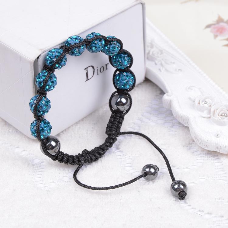 Fashion Shamballa Jewelry New Mix Colors Sales Promotion 10mm Crystal AB Clay Disco Ball Shamballa Bracelets & Bangles(China (Mainland))