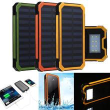 Simplestone Waterproof 20000mAh Portable Solar Charger Dual USB Battery Power Bank F Phone Dec6(China (Mainland))