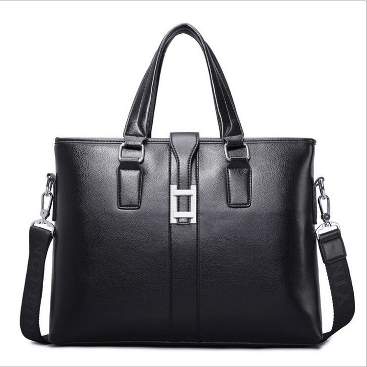 Business Men PU Leather Laptop Tote Bags Man Crossbody Bag Men's Messenger Travel Briefcases Bags(China (Mainland))