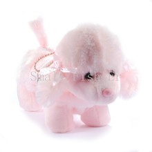 Cartoon plush dogs pencil case puppy toy poodle pencil bags cute dog cosmetic bag coin purse toys for child ,school supplies(China (Mainland))