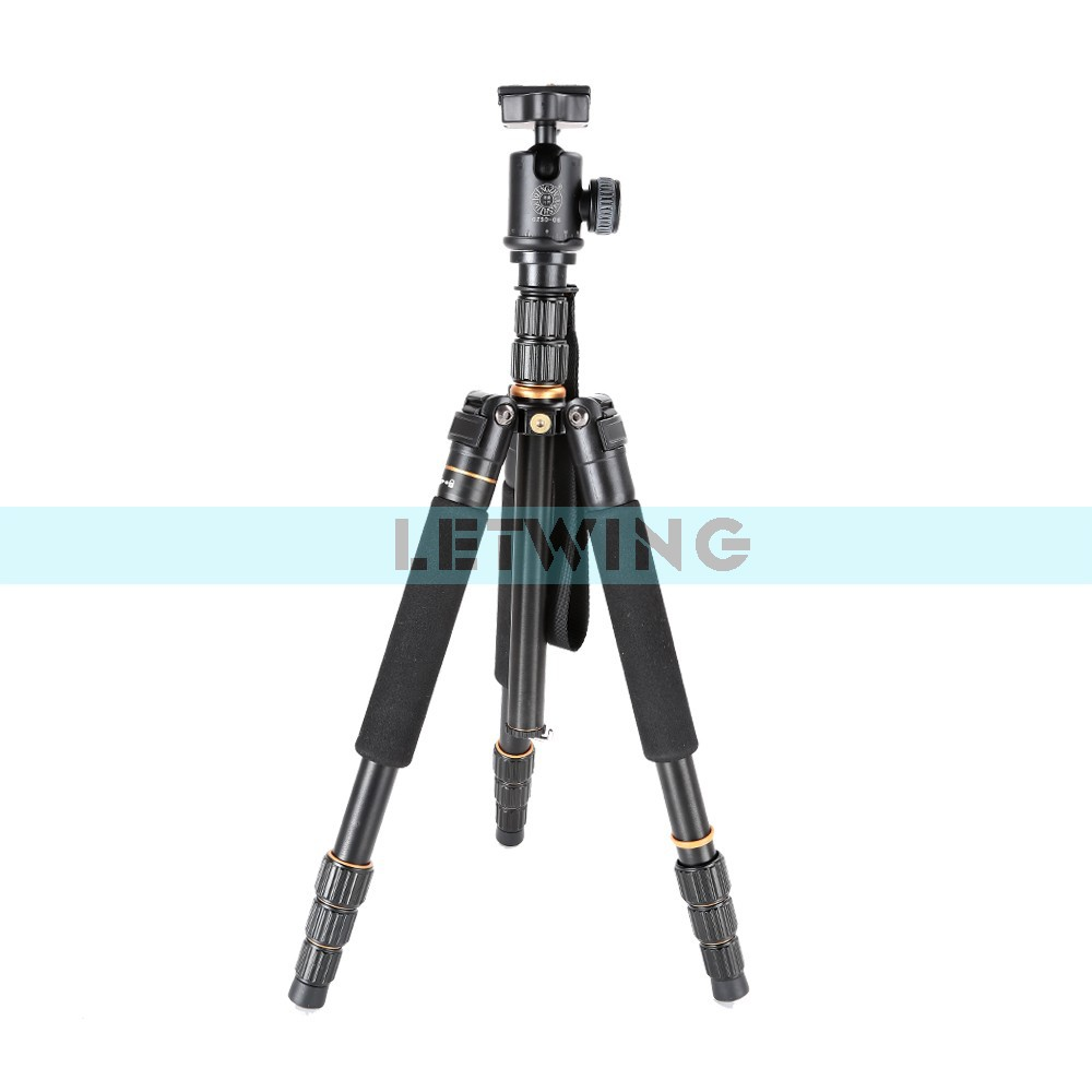 Фотография Q999S Aluminum Tripod Monopod with Detachable Ball Head Travel Tripod for DSLR
