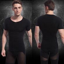 Stylish Men's Summer Slimming Body Shaper Belly Fatty Underwear Vest Shirt Tops(China (Mainland))