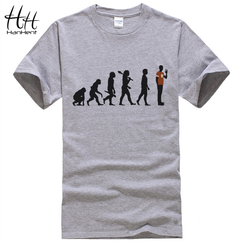 Sheldon Evolution T-shirts Men Summer Sportswear The Big Bang Theory Tshirt Cotton Short Sleeve Brand Male Clothing TA0140(China (Mainland))