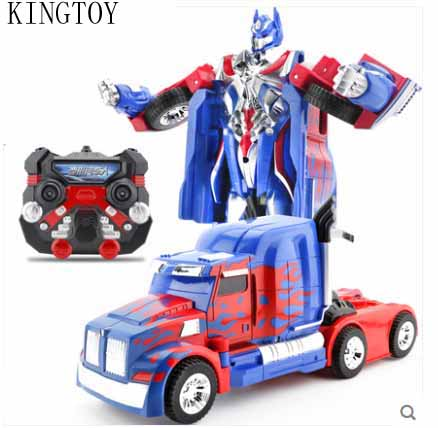 Kids USB Charging RC Car Remote Control Deformed Car Robot Toy(China (Mainland))