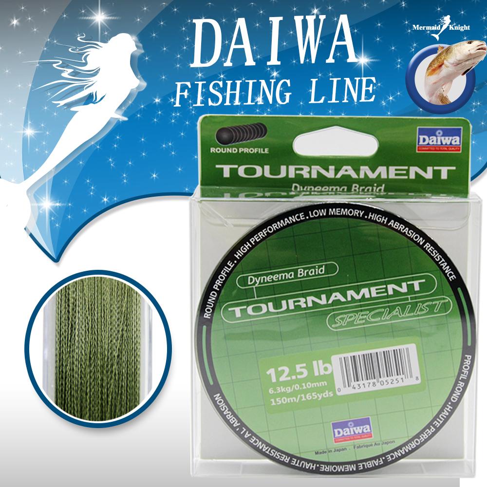 DAlWA Brand 150M 165Yards Multifilament PE Braided Fishing Line 4/8 stands 8LB 10LB 20LB 30LB 40LB 60LB FREE SHOPPING(China (Mainland))