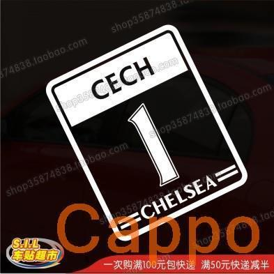 Car stickers reflective car stickers star tournament No. original font on the 1st Cech Chelsea(China (Mainland))