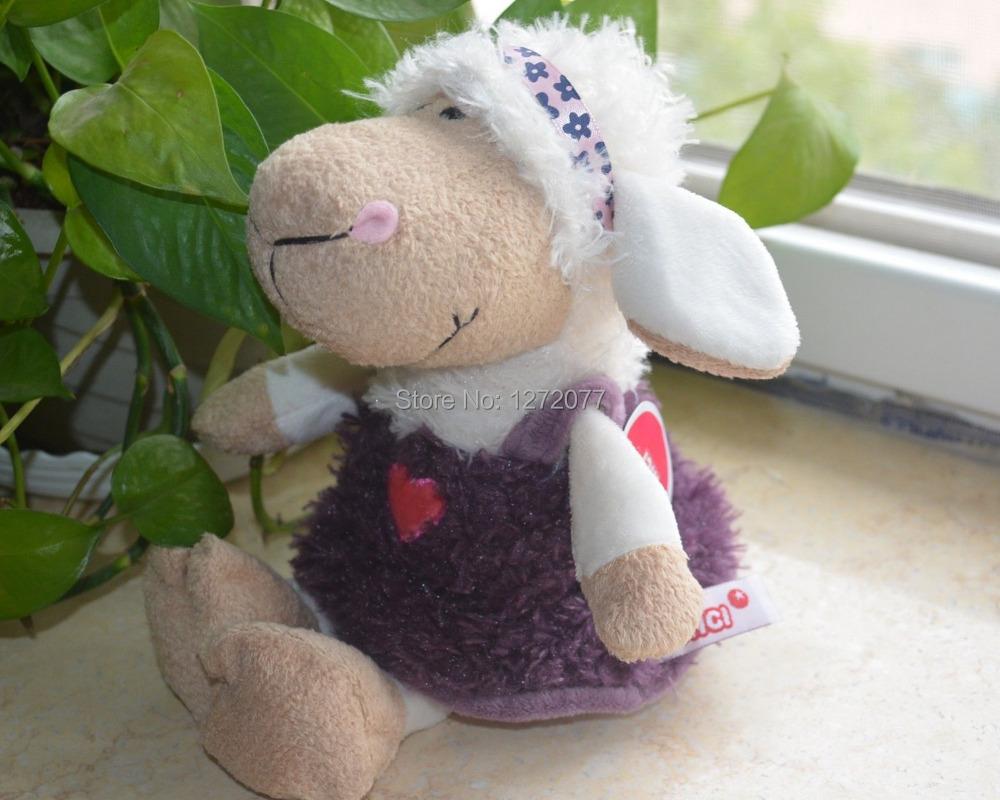 NICI Purple Skirt Sheep Stuffed Plush Toy, Baby Kids Toy Gift Free Shipping(China (Mainland))